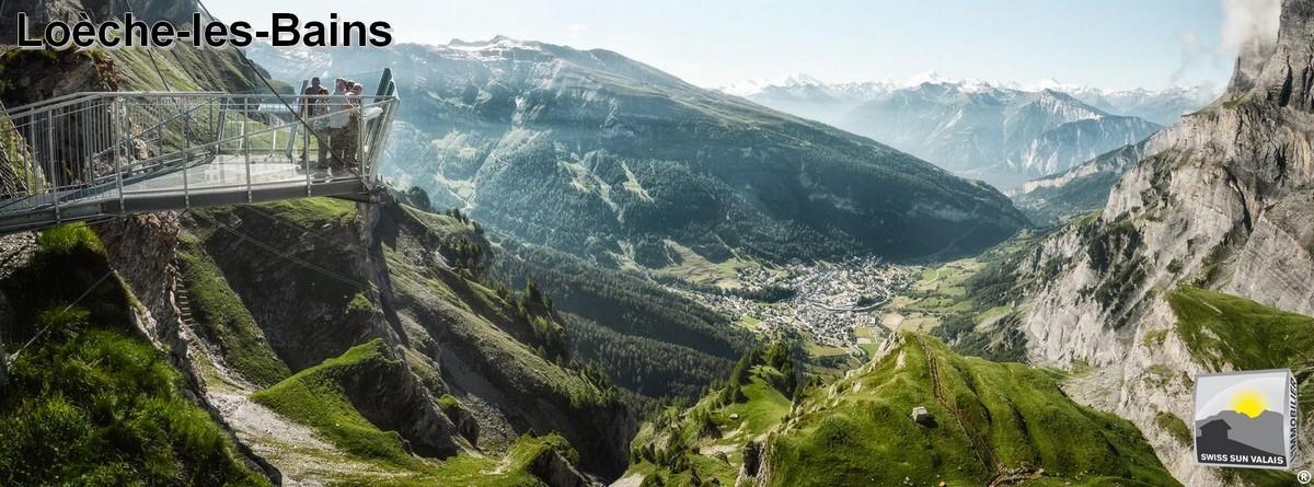 Swiss Sun Valais ® vue époustouflante sur Leukerbad. 1er réseau immobilier du Valais ®
