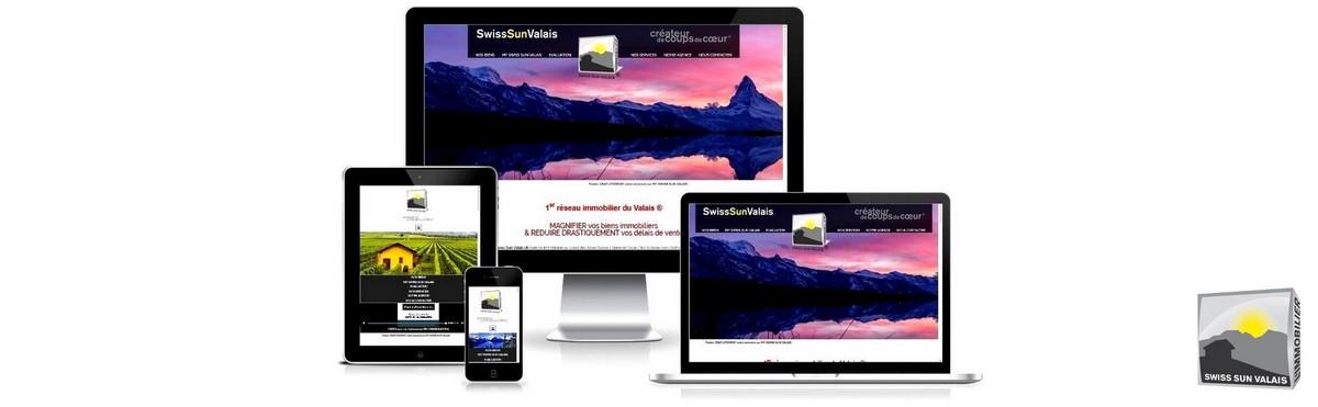 Swiss Sun Valais ® Facile de nous contacter sur tous supports digitaux en Valais Suisse. 1er réseau immobilier du Valais ®